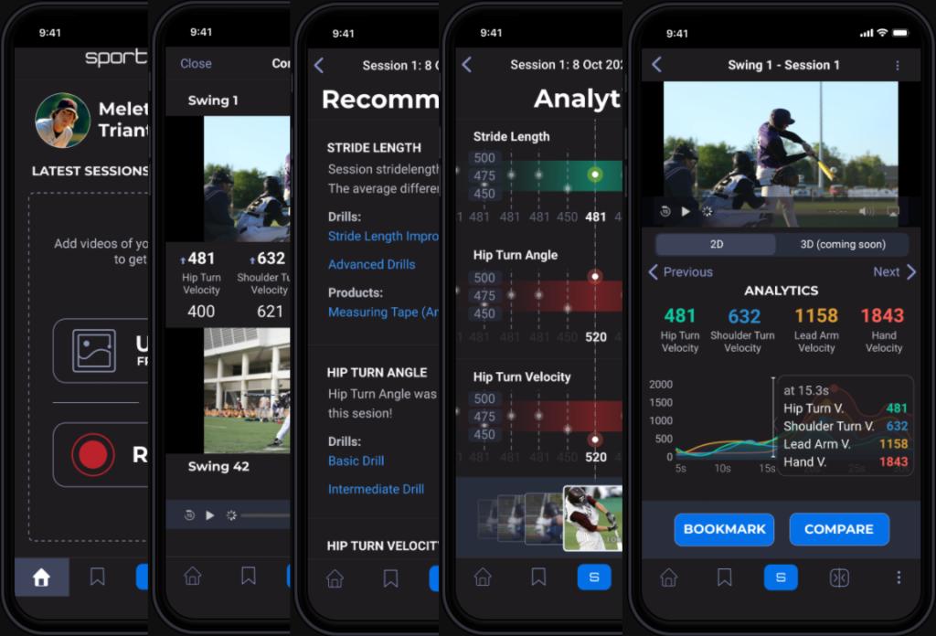 SportsTrace Mobile App Screens