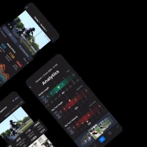 SportsTrace mobile app on several phones