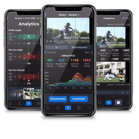 SportsTrace Analytics, Moment, and Compare screens