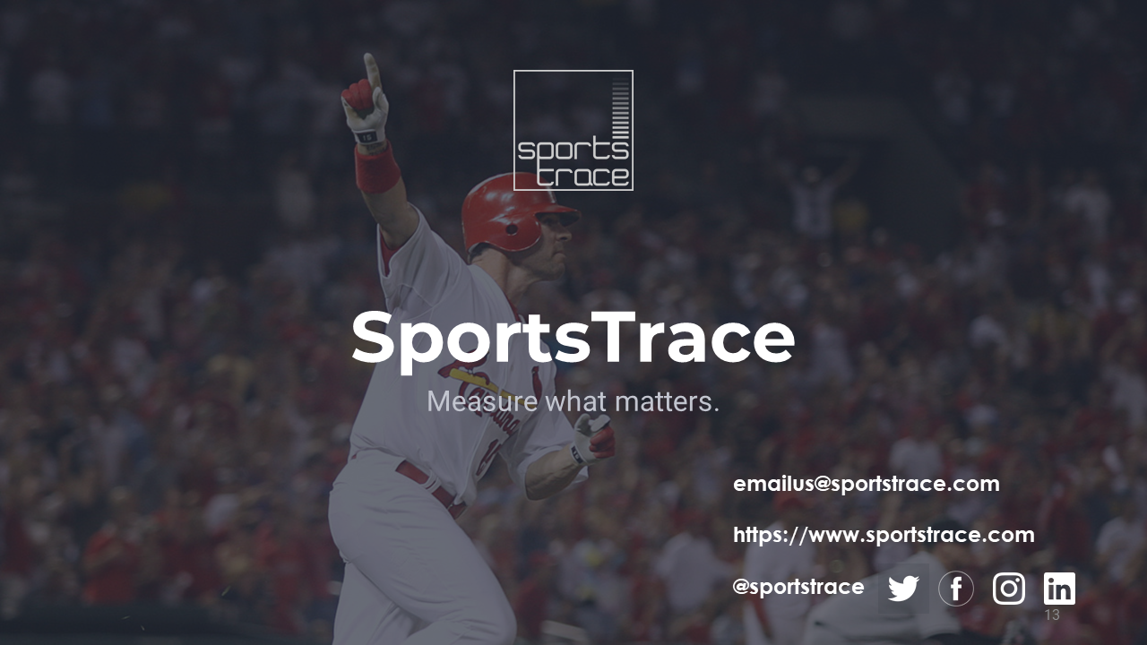 SportsTrace outro contact us slide Facility Model