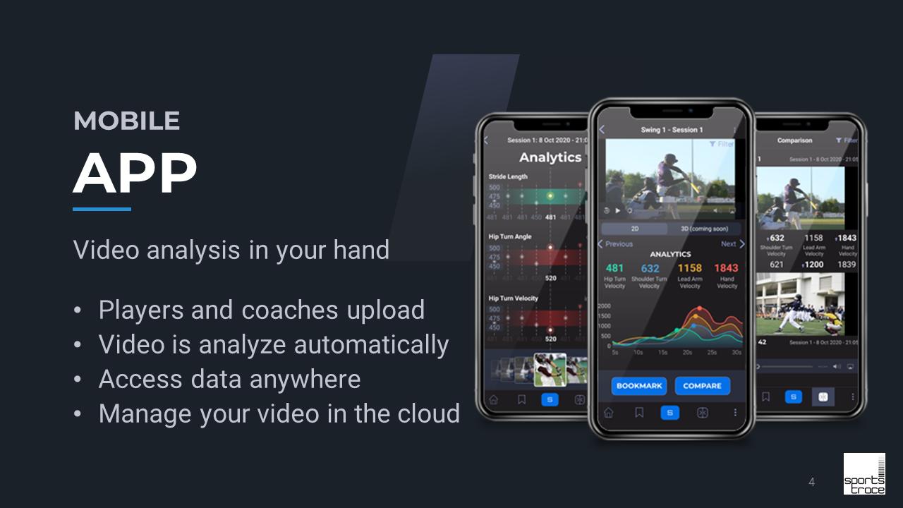 SportsTrace Softball Team mobile app